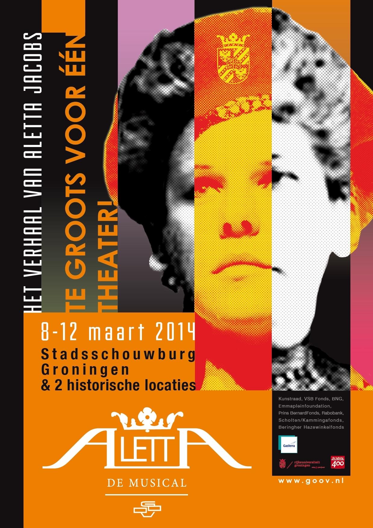 Poster Aletta de Musical 8-12 maart 2014